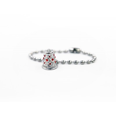 FUTURISTIC SILVER RED CRYSTAL bracelet and necklace